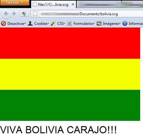Bandera Bolivia SVG
