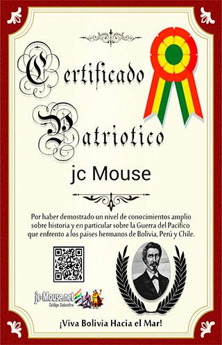 certificado boliviano