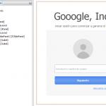 Login estilo Google