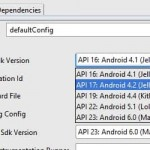 Cambiar API Level en Android Studio