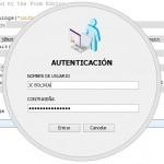 Formulario de autenticación circular