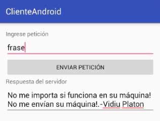 cliente servidor android
