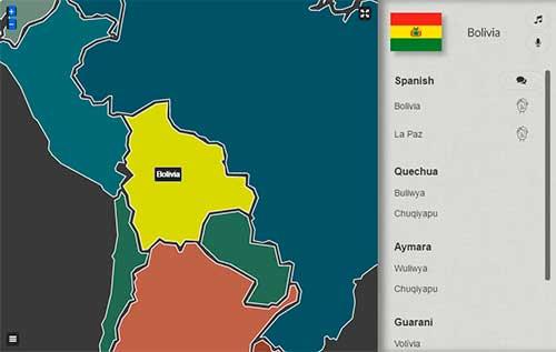 Bolivia idiomas