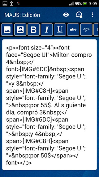 html editor android