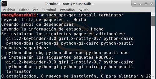 terminal default