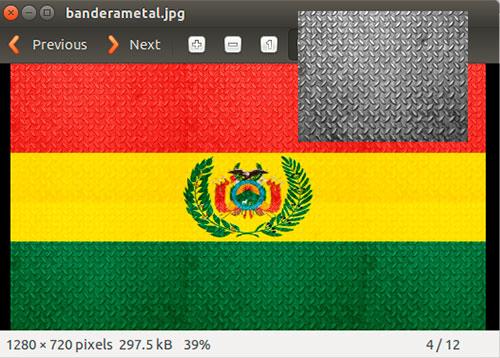 bandera metalica de bolivia