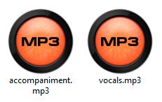 archivos de audio mp3 con IA