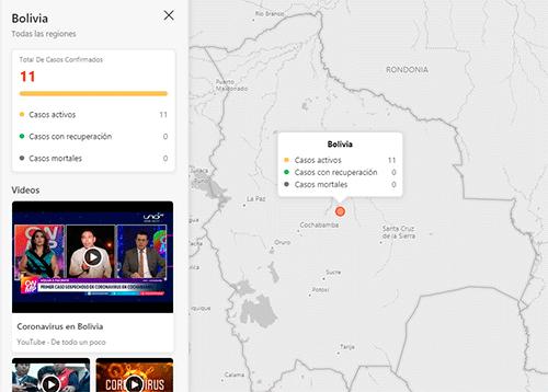 mapa interactivo coronavirus en bolivia