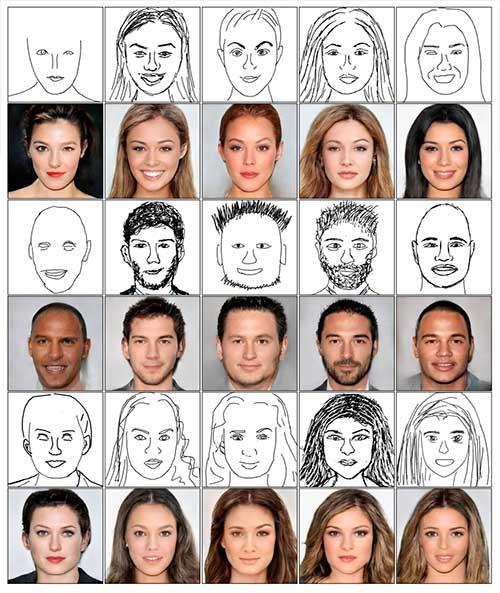 producir imágenes faciales de alta calidad a partir de bocetos a mano alzada