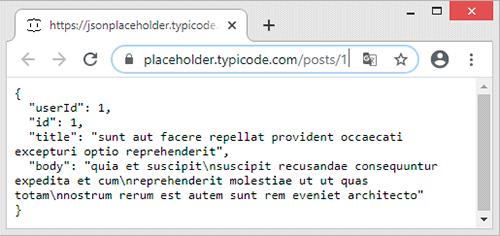 Objeto JSON de API REST
