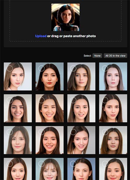Fotos generados con Inteligencia Artificial